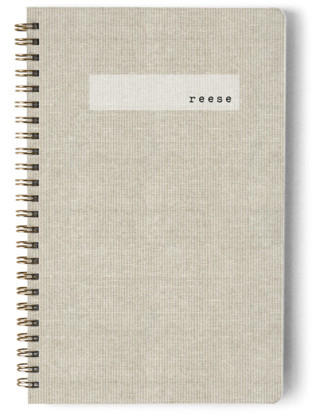 Minimal Linen Day Planner, Notebook, Or Address Book