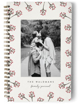 This is a beige journal by Melissa Casey called Watercolor Berry Bliss Notebook with standard printing on premium cover stock in notebook.