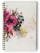 This is a purple journal by Lori Wemple called Bloom with standard printing on premium cover stock in notebook.