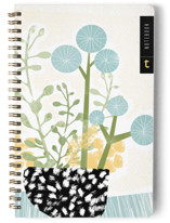 This is a blue journal by Tanya Lee Design called Abstract Bloom with standard printing on premium cover stock in notebook.