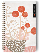 This is a orange journal by Tanya Lee Design called Abstract Bloom with standard printing on premium cover stock in notebook.