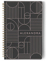 This is a grey journal by Iveta Angelova called Bauhaus Slate with standard printing on premium cover stock in notebook.