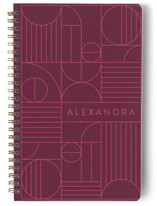 This is a pink journal by Iveta Angelova called Bauhaus Slate with standard printing on premium cover stock in notebook.