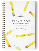This is a yellow journal by Oscar & Emma called Appreciation with standard printing on premium cover stock in notebook.