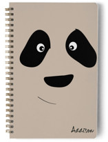 This is a beige journal by Simi Gauba called Amanda with standard printing on premium cover stock in notebook.