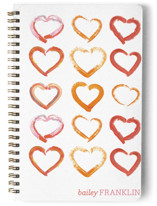 Lovely Hand-Drawn Watercolor Hearts