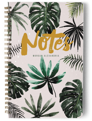 Tropical Leaves Day Planner, Notebook, or Address Book