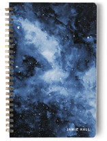 This is a blue journal by Angela Garrick called Amongst The Stars with standard printing on premium cover stock in notebook.