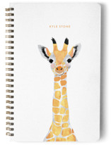 This is a green journal by Cass Loh called Baby Animal Giraffe with standard printing on premium cover stock in notebook.