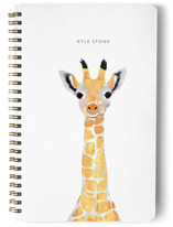 This is a blue journal by Cass Loh called Baby Animal Giraffe with standard printing on premium cover stock in notebook.