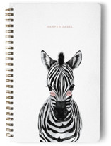This is a pink journal by Cass Loh called Baby Animal Zebra with standard printing on premium cover stock in notebook.