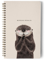 This is a beige journal by Cass Loh called Baby Animal Sea Otter with standard printing on premium cover stock in notebook.