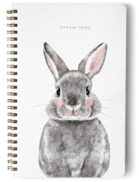 This is a blue journal by Cass Loh called Baby Animal Rabbit with standard printing on premium cover stock in notebook.