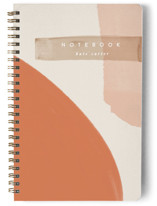 This is a orange journal by Creo Study called Moody Senset with standard printing on premium cover stock in notebook.