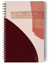 This is a red journal by Creo Study called Moody Senset with standard printing on premium cover stock in notebook.