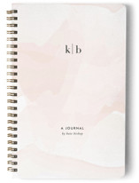 This is a pink journal by Jennifer Postorino called Initials with standard printing on premium cover stock in notebook.