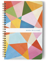 This is a colorful journal by melanie mikecz called Painted Geometry with standard printing on premium cover stock in notebook.