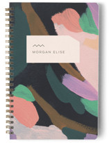 This is a purple journal by Moglea called Adagio with standard printing on premium cover stock in notebook.