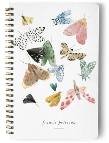 Moths Day Planner, Notebook, Or Address Book