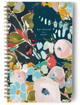 This is a blue journal by Jess Franks called Thrive with standard printing on premium cover stock in notebook.