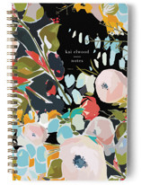 This is a black journal by Jess Franks called Thrive with standard printing on premium cover stock in notebook.
