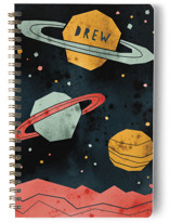 This is a brown journal by Susanne Kasielke called Space Planets with standard printing on premium cover stock in notebook.