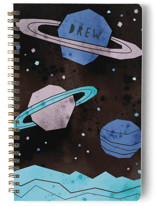This is a blue journal by Susanne Kasielke called Space Planets with standard printing on premium cover stock in notebook.
