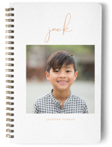 This is a orange journal by Lehan Veenker called Just Me with standard printing on premium cover stock in notebook.