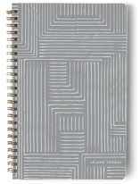 This is a grey journal by Anelle Mostert called Pattern Play with standard printing on premium cover stock in notebook.