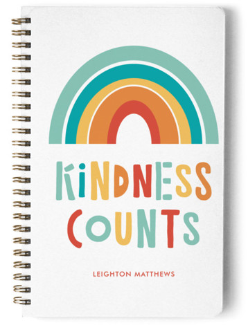 Kindess Counts Rainbow Day Planner, Notebook, Or Address Book