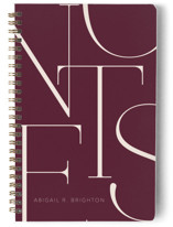 This is a red journal by Iveta Angelova called Elegant Notes with standard printing on premium cover stock in notebook.