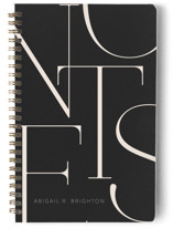 This is a black journal by Iveta Angelova called Elegant Notes with standard printing on premium cover stock in notebook.