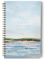 This is a blue journal by Nicole Walsh called Looking Ahead with standard printing on premium cover stock in notebook.