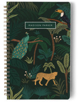 This is a green journal by Elly called Wild Spirit with standard printing on premium cover stock in notebook.
