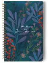 This is a blue journal by Ann Gardner called Moody Blues with standard printing on premium cover stock in notebook.