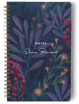 This is a purple journal by Ann Gardner called Moody Blues with standard printing on premium cover stock in notebook.