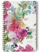 This is a pink journal by Lori Wemple called Bouquets with standard printing on premium cover stock in notebook.