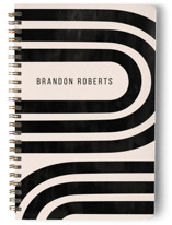 This is a black journal by Iveta Angelova called Winding with standard printing on premium cover stock in notebook.