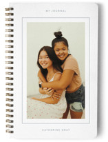 This is a blue journal by Kristel Torralba called Framed Journal with standard printing on premium cover stock in notebook.