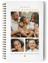 This is a yellow journal by Hudson Meet Rose called Family Notes with standard printing on premium cover stock in notebook.