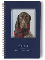 This is a blue journal by peony papeterie called Framed with standard printing on premium cover stock in notebook.