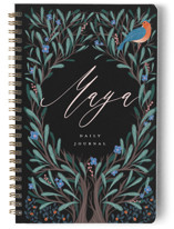 This is a blue journal by Grae Sales called Wild Child with standard printing on premium cover stock in notebook.