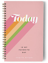This is a pink journal by Dominique Vari called Today is my favorite day! with standard printing on premium cover stock in notebook.
