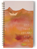 This is a orange journal by Kanika Mathur called Paper Boat with standard printing on premium cover stock in notebook.
