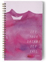 This is a purple journal by Kanika Mathur called Paper Boat with standard printing on premium cover stock in notebook.