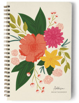 This is a yellow journal by Megan Cash called Bloomed with standard printing on premium cover stock in notebook.