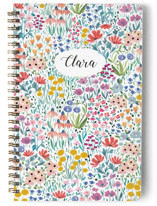 This is a white journal by Afton Harding called Anita Garden with standard printing on premium cover stock in notebook.