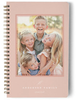 This is a pink journal by Emily Betts called Sweet Frame with standard printing on premium cover stock in notebook.
