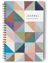 This is a green journal by lulu and isabelle called Kaleidoscope with standard printing on premium cover stock in notebook.