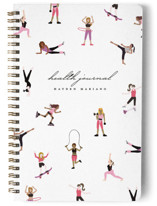 This is a white journal by Katie Zimpel called Millennial Fitness with standard printing on premium cover stock in notebook.